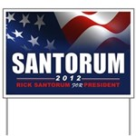 Santorum Yard Sign