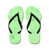 Green Polka Dots Flip Flops