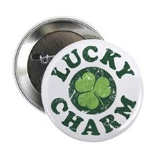 "Lucky Charm [shamrock] 2.25"" Button"