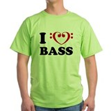 I Love Bass Guitar T-Shirt