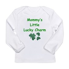 Cute Born on st patricks day Long Sleeve Infant T-Shirt