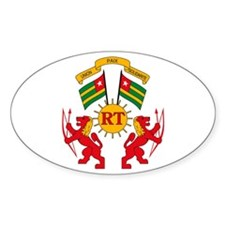 Togo Coat of Arms Oval Decal