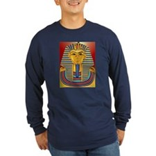 Tut Mask on Burgundy and Gold T