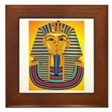 Tut Mask on Sun Framed Tile