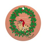 Cat Ornament to Personalize Yourself Original Art