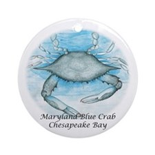 Chesapeake Bay Blue Crab Christmas Ornament