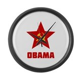 Superstar Obama Large Wall Clock