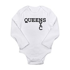 QUEENS NYC Long Sleeve Infant Bodysuit