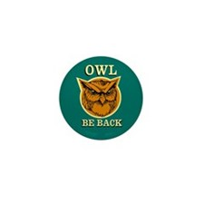 Owl Be Back Mini Button (10 pack)