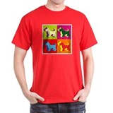 Scottish Terrier Silhouette Pop Art T-Shirt
