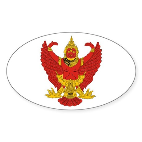Thailand Emblem Oval Sticker