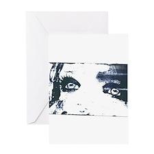 Inky Ink Eyes Greeting Card