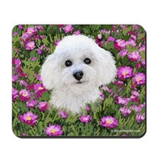 Bichon in Flowers Mousepad