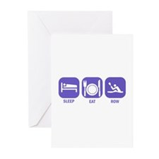 Sleep Eat Row Greeting Cards (Pk of 10)