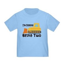 Personalized 2nd Birthday Bulldozer T