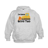 Personalized 2nd Birthday Bulldozer Hoody