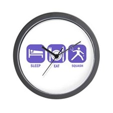 Sleep Eat Squash Wall Clock