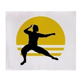 Crouching Ninja Throw Blanket