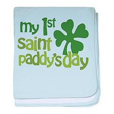 1st St. Patrick's Day baby blanket
