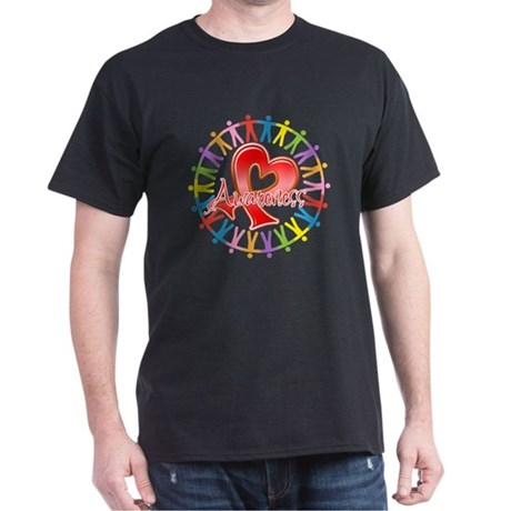 AIDS Unite in Awareness Dark T-Shirt