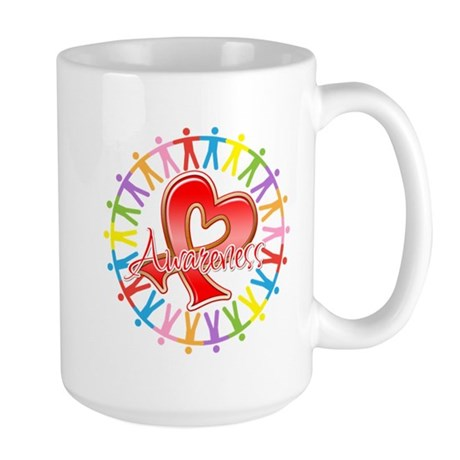 AIDS Unite in Awareness Large Mug