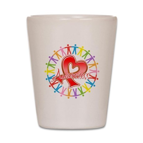 AIDS Unite in Awareness Shot Glass