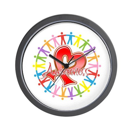 AIDS Unite in Awareness Wall Clock