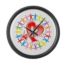 AIDS Unite in Awareness Large Wall Clock