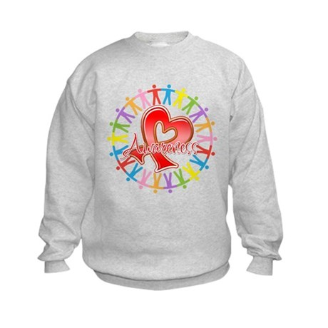 AIDS Unite in Awareness Kids Sweatshirt