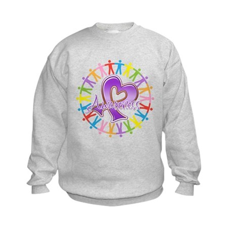 Alzheimers Unite Awareness Kids Sweatshirt