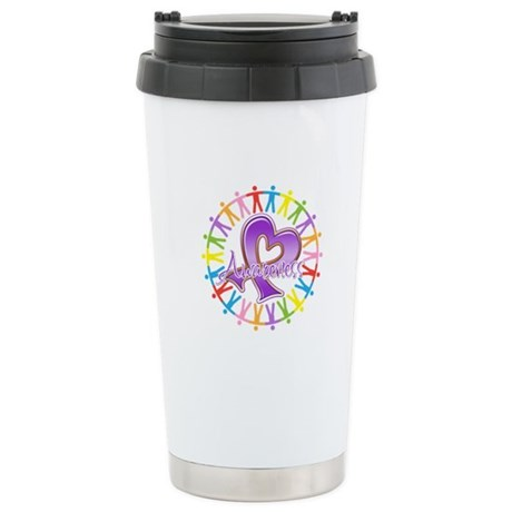 Alzheimers Unite Awareness Ceramic Travel Mug