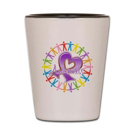 Alzheimers Unite Awareness Shot Glass