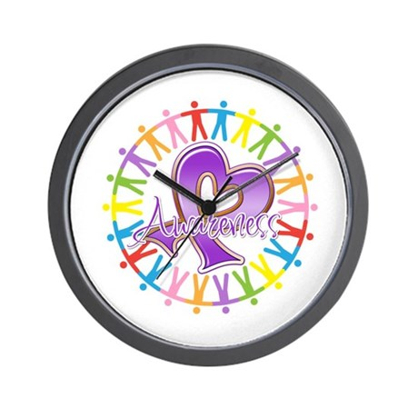 Alzheimers Unite Awareness Wall Clock
