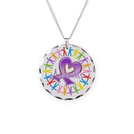 Alzheimers Unite Awareness Necklace Circle Charm