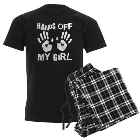 Hands Off My Girl Funny Men's Dark Pajamas