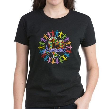 Autism Unite in Awareness Women's Dark T-Shirt