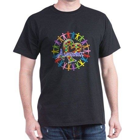 Autism Unite in Awareness Dark T-Shirt