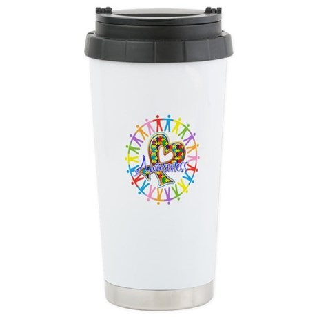 Autism Unite in Awareness Ceramic Travel Mug