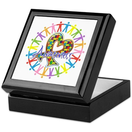 Autism Unite in Awareness Keepsake Box