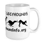 Large AllAboutGreyhounds Mug with Black Image