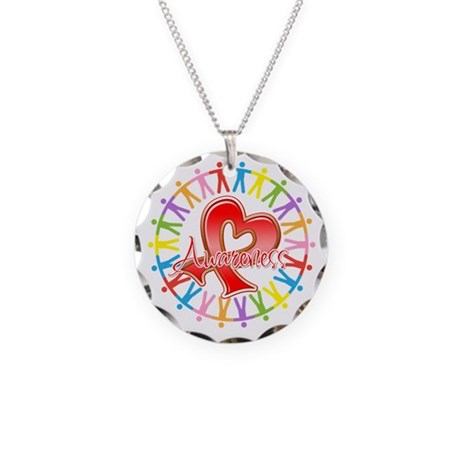 Blood Cancer Unite Awareness Necklace Circle Charm