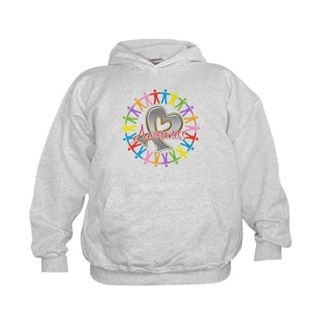 Brain Cancer Unite Awareneness Kids Hoodie