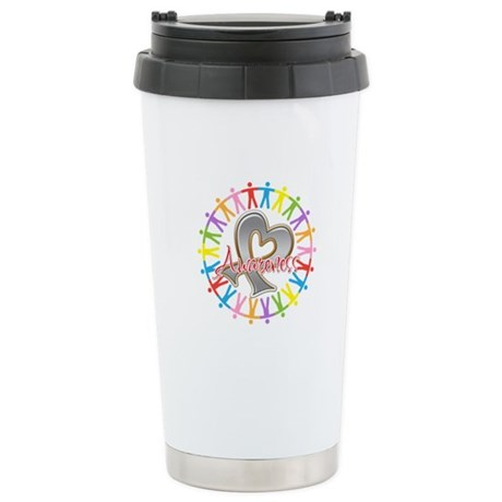 Brain Cancer Unite Awareneness Ceramic Travel Mug