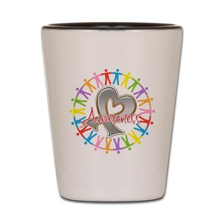 Brain Cancer Unite Awareneness Shot Glass