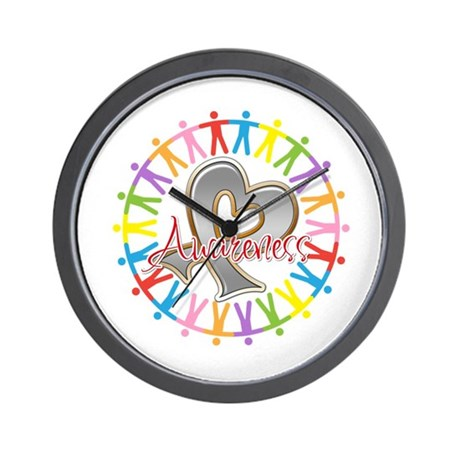 Brain Cancer Unite Awareneness Wall Clock
