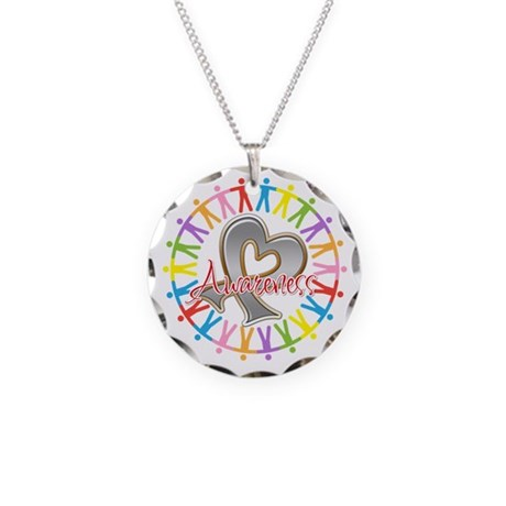 Brain Cancer Unite Awareneness Necklace Circle Cha