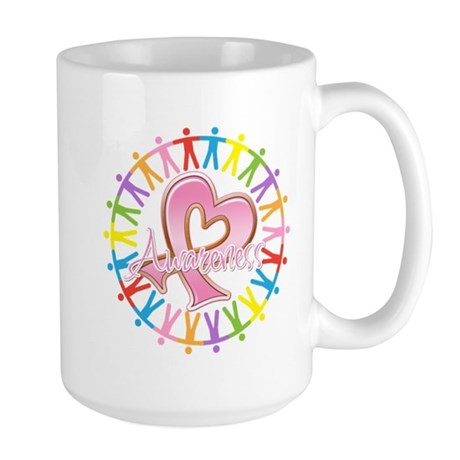 Breast Cancer Unite Awareness Large Mug