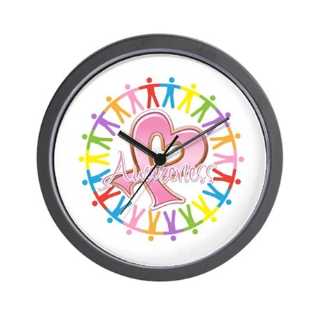 Breast Cancer Unite Awareness Wall Clock
