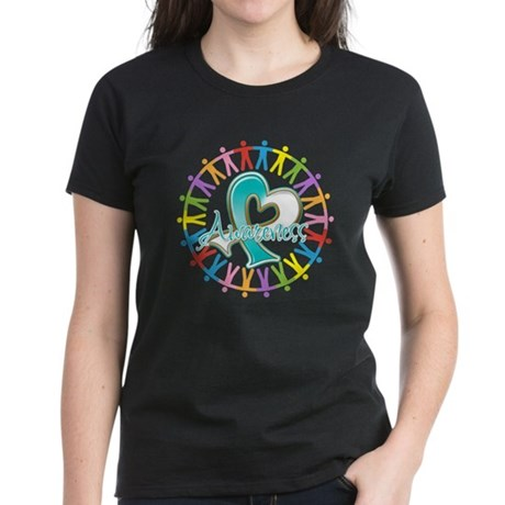 Cervical Cancer Unite Awareness Women's Dark T-Shi