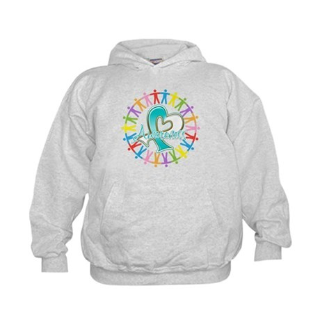 Cervical Cancer Unite Awareness Kids Hoodie
